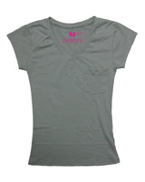 Grey Suave V-Neck (Women)