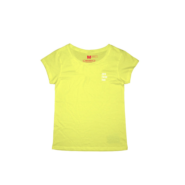 Zerothreetwo Crest  Yellow T-Shirt Women