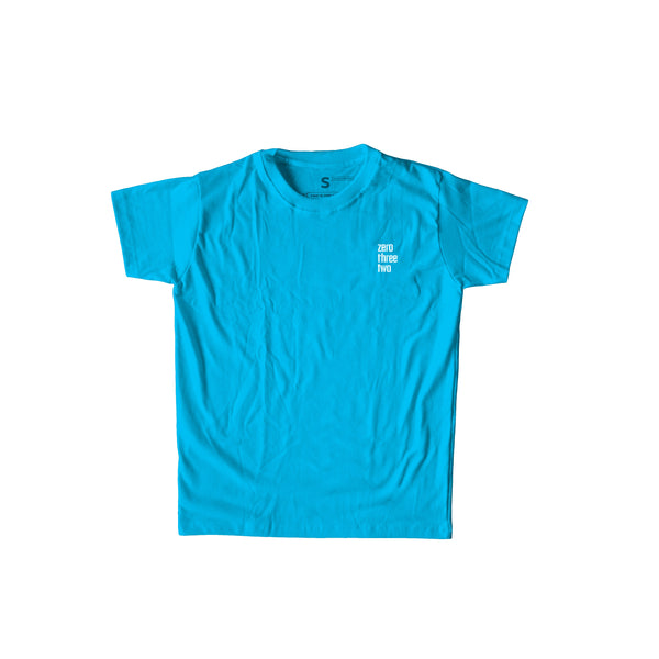 Zerothreetwo Crest Sky Blue T-Shirt Men