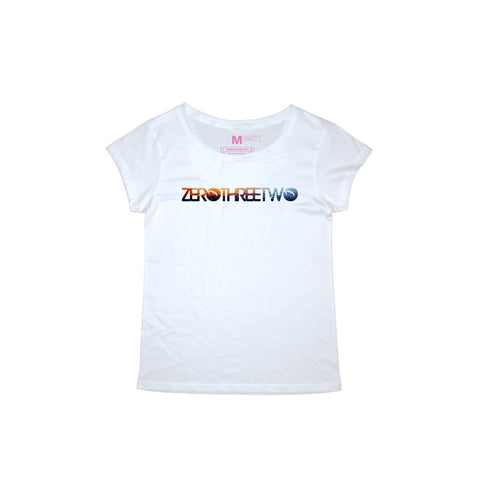 Tropical White T-Shirt Women