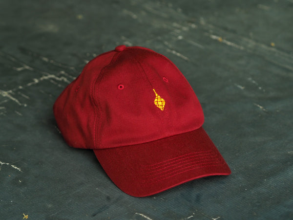 Puso Dad Hat Maroon with Gold Embroidery