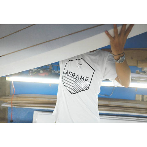 Hexagram Aframe Tee White