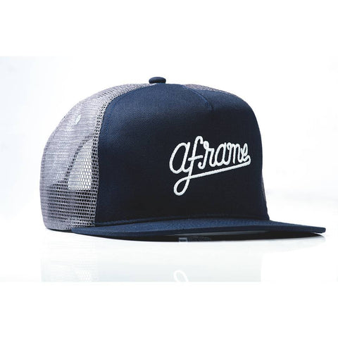 Macho Aframe Trucker Cap Navy Blue and Gray