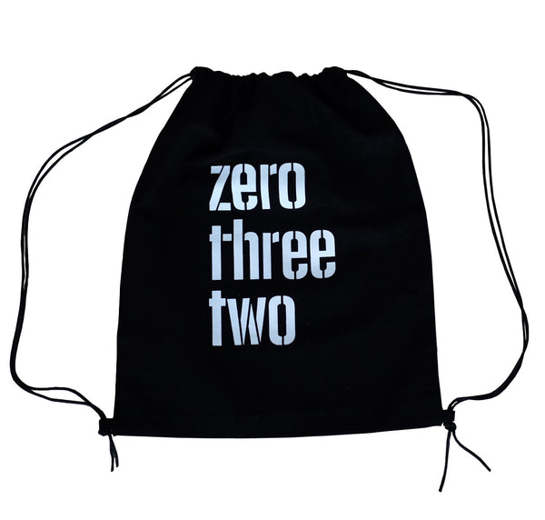 Zerothreetwo Logo Black Sackpack