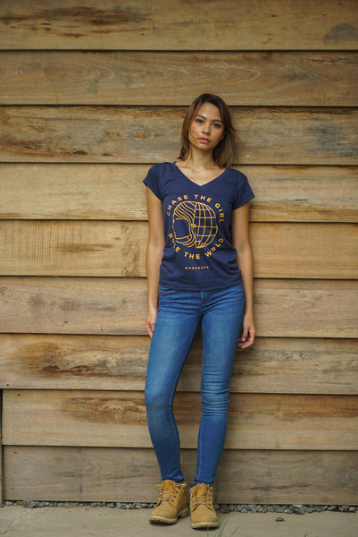 Chase the Girl Blue Women Shirt