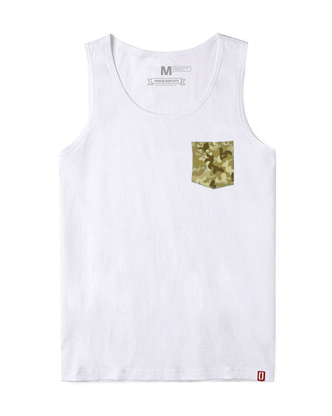 Green Camo Pocket Sando (Men)