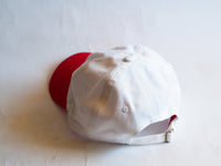 Rainbow Circle Dad Hat White Red