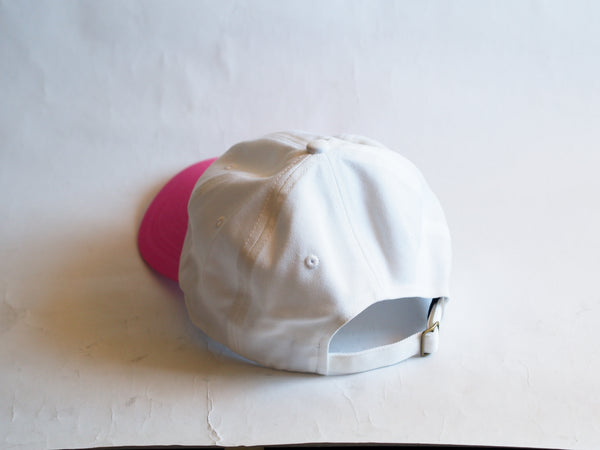 Rainbow Circle Dad Hat White Pink