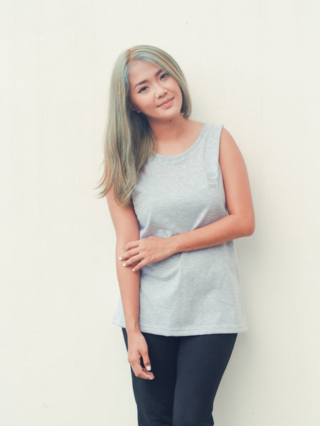 Grey Muscle Tee Women