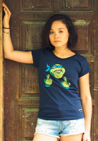Turtle with an Attitude (Blue Shirt Women)