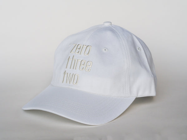Zerothreetwo White on White Baseball Cap (online exclusive)
