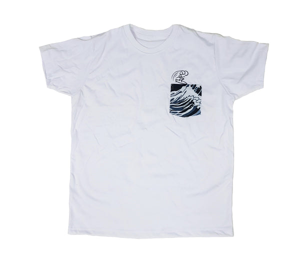 Surf White Pocket Tee Men