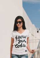 Know Your Code Women (White Shirt)