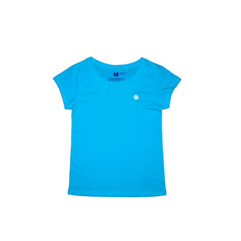 Circle Crest Sky Blue T-Shirt Women