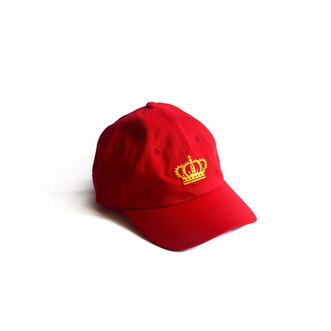 Crown Dad Hat Red