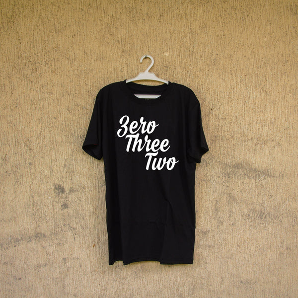 Black Cursive ZeroThreeTwo (Men)