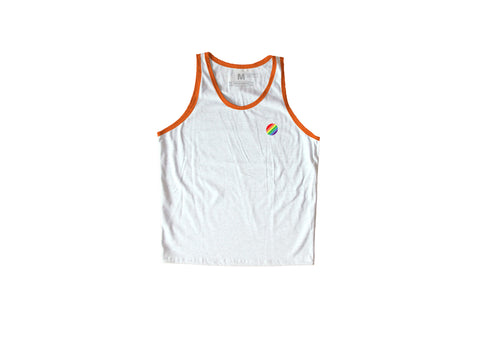 Rainbow Circle Orange / White Sando