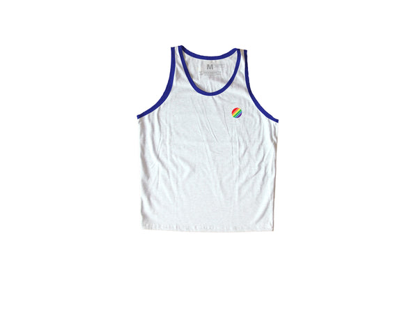 Rainbow Circle Navy Blue / White Sando