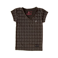Puso Pattern Black Women T-Shirt