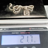 Sterling Silver Rope Chain & Kokopelli Pendant Signed AC HENRY