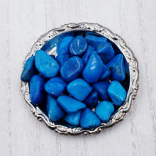 Load image into Gallery viewer, Blue Howlite Tumbled Stone
