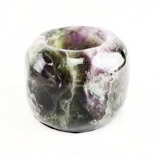 Load image into Gallery viewer, Crystal Polished Flourite Candle Holder Planter