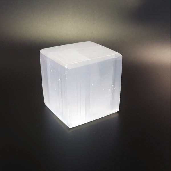 "Selenite Cube 2"" Metaphysical Crystal"