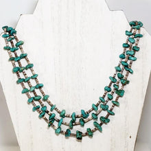 Load image into Gallery viewer, Santo Domingo 3 Strand Turquoise Necklace Shell Heishi Native American Old Pawn - Elevated Metaphysical
