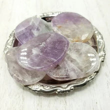Load image into Gallery viewer, Amethyst Palm Stone Smooth Stone