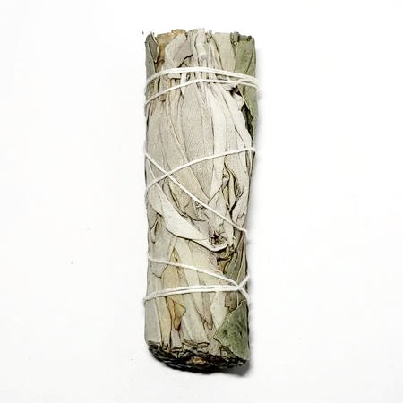"White Sage & Eucalyptus Smudge Wand Stick 4"" - Incense and Herbs - Elevated Metaphysical"
