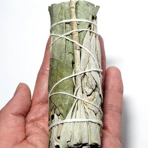 "White Sage & Eucalyptus Smudge Wand Stick 4"" - Incense and Herbs"