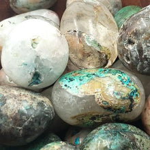 Load image into Gallery viewer, Chrysocolla with Quartz Tumbled Stone - Tumbled Stones - Elevated Metaphysical