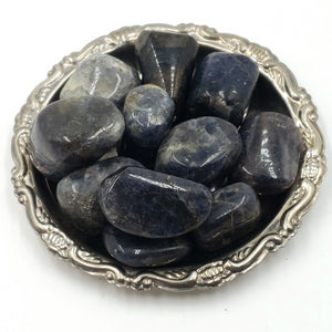 Iolite Tumbled Stone Hand Polished Cube - Elevated Metaphysical
