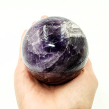 "Load image into Gallery viewer, Amethyst Sphere 2.8"" 70 mm 17 oz 480 g"