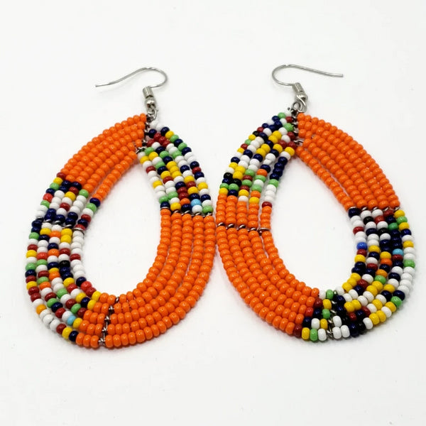 Beaded Earrings Handmade Fashion Jewelry