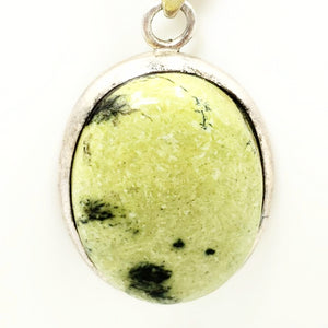 Nephrite Jade Sterling Silver Pendant - Elevated Metaphysical