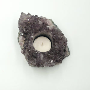 Amehtyst Geode Candle Holder Succulent Holder