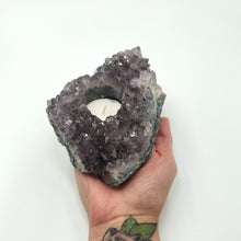 Load image into Gallery viewer, Amehtyst Geode Candle Holder Succulent Holder