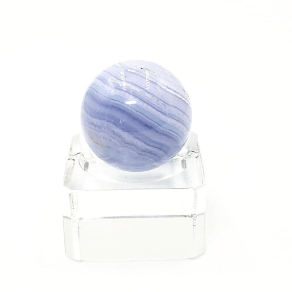 Blue Lace Agate Sphere 31.9 mm 44.7 g