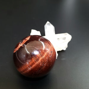 "Red Tiger Eye Sphere 42mm 1.65"" 105g 3.7oz"