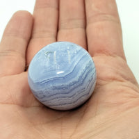Blue Lace Agate Sphere 31.0 mm 40.6 g