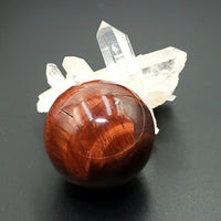 "Red Tiger Eye Sphere 38mm 1.5"" 77g 2.7oz"