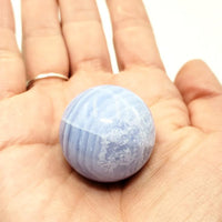 Blue Lace Agate Sphere 29.1 mm 33.5 g
