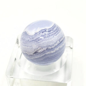 Blue Lace Agate Sphere 27.9 mm 29.6 g - Spheres
