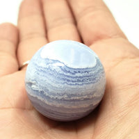 Blue Lace Agate Sphere 27.9 mm 29.6 g