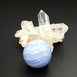 Blue Lace Agate Sphere 27.7 mm 29.2 g