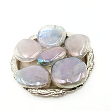 Load image into Gallery viewer, Aura Amethyst Palm Stone Smooth Stone Round Stone Aura Quartz