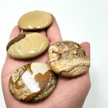 Load image into Gallery viewer, Picture Jasper Palm Stone Smooth Stone Round Stone