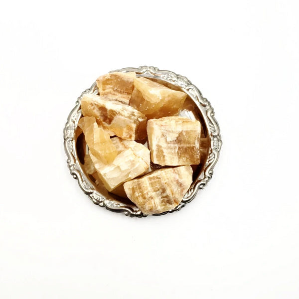 Honey Calcite Rough Stone
