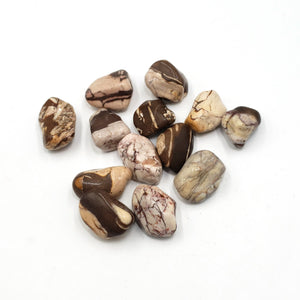 Brown Zebra Jasper Tumbled Stone